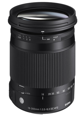 Sigma 18-300mm F3.5-6.3 CONTEMPORARY DC Macro OS HSM (Canon) - Photo-Video - Sigma - Helix Camera