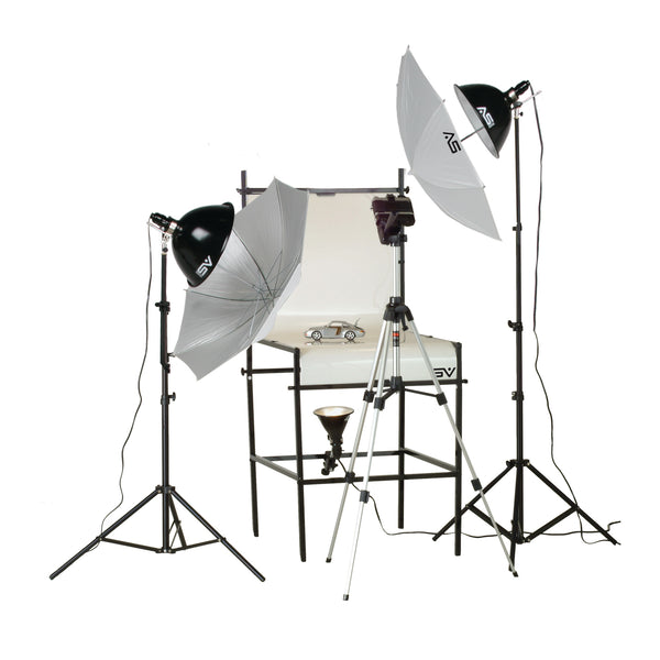 Smith Victor TST-P2, 3 Light 1250-Watt Photoflood Shooting Table Kit