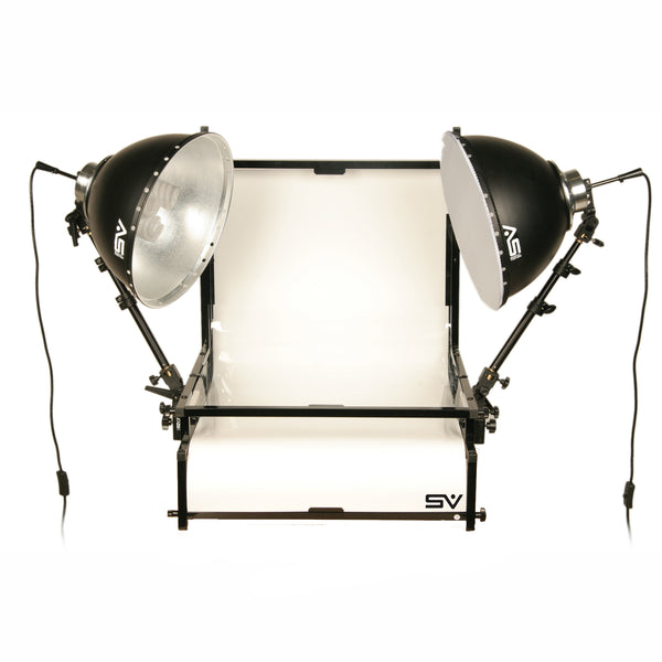 Smith Victor TST-F2 2- Light Fluorescent 700 watt (Tungsten Equivalent) Shooting Table Kit