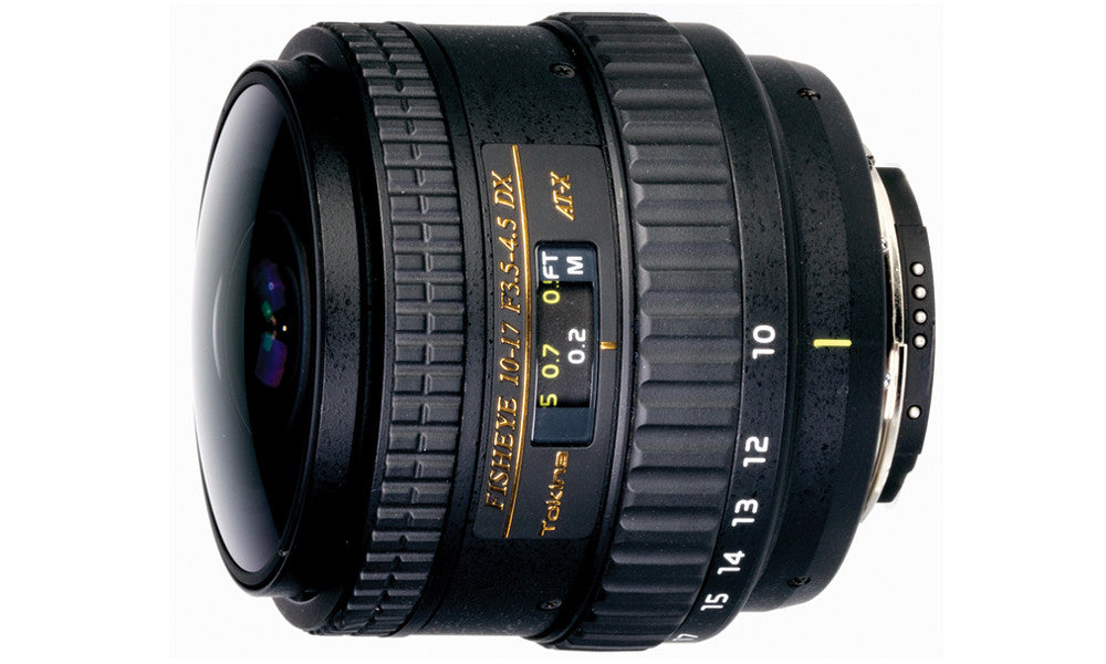 Tokina 10-17mm F/3.5-4.5 Fish-eye zoom NO Built-in Hood - Nikon