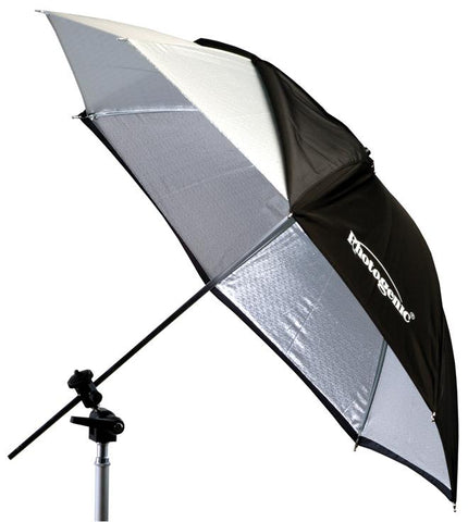 "Photogenic Umbrella - Black/Silver - 45"" (US45)"