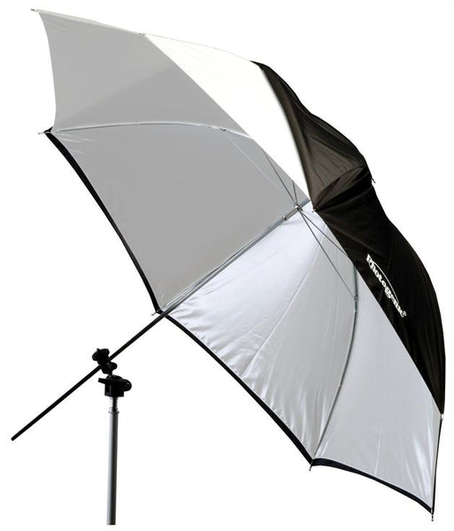 Photogenic 45 Eclipse Umbrella with White Satin Interior /& Black Cover. EC45BC