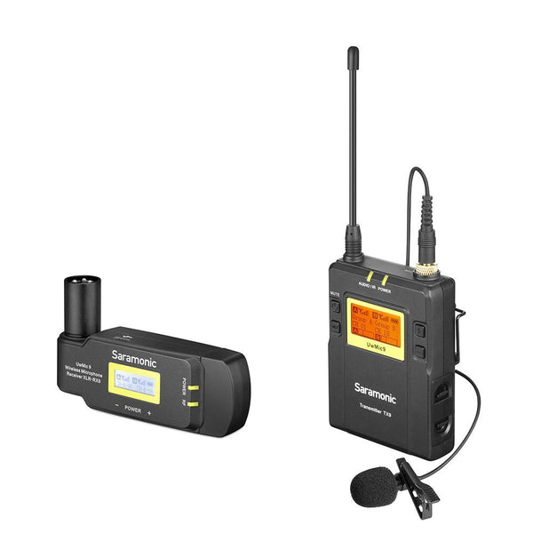 Saramonic UwMic9 TX9+RX-XLR9 UHF Wireless Lavalier Mic System with Dual-Channel XLR Plug-In Receiver for Professional Video, DSLR & Mirrorless Cameras
