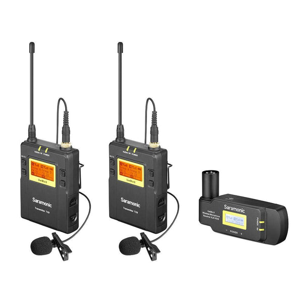 Saramonic UwMic9 TX9+TX9+RX-XLR9 Dual-Channel UHF Wireless Lavalier Mic System with Plug-In XLR Receiver for Professional Video, DSLR & Mirrorless Cameras