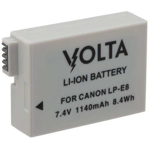 Volta LP-E8 1140mAh Rechargeable Battery for Canon Cameras