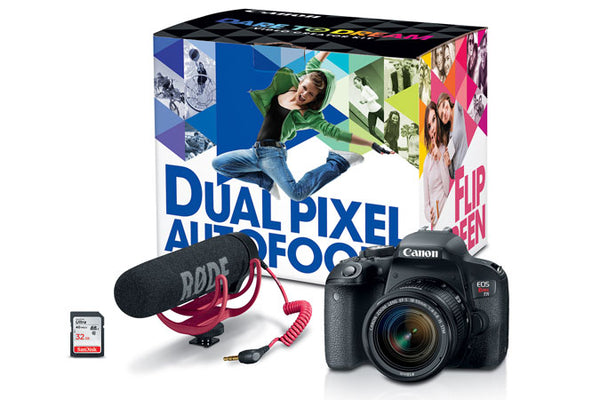 Canon EOS Rebel T7i Video Creator Kit