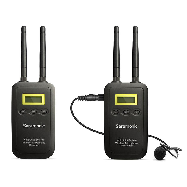 Saramonic VmicLink5 RX+TX 5.8GHz Wireless Lavalier System with Portable Camera-Mountable Receiver
