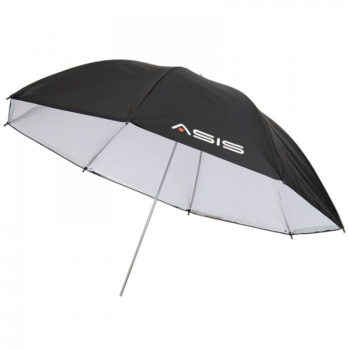 "Asis 43"" Translucent Umbrella w/ Removable Silver Back"