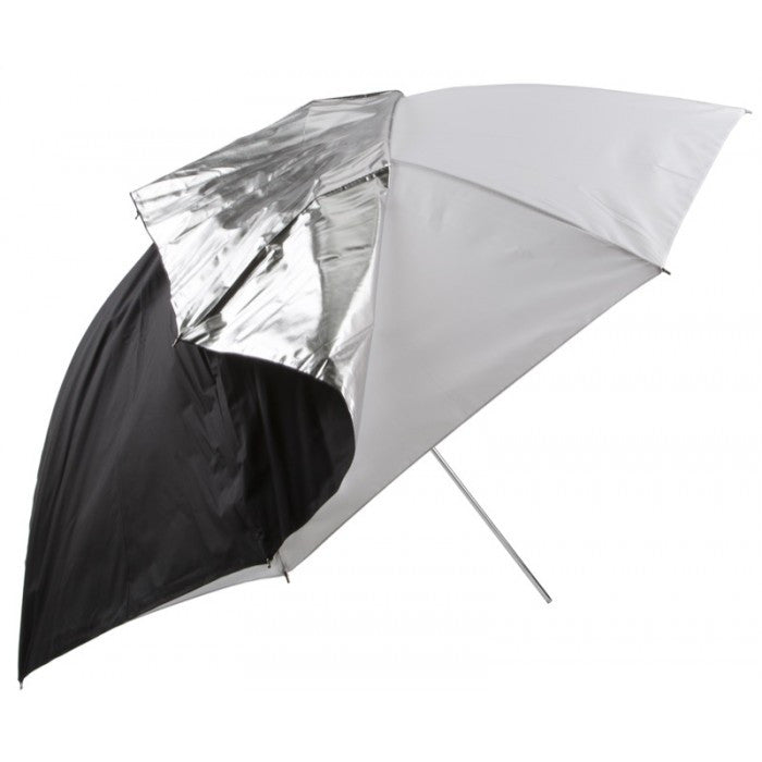 Studio-Assets 45 inch Compact Transclucent Umbrella w/Removable Silver Back