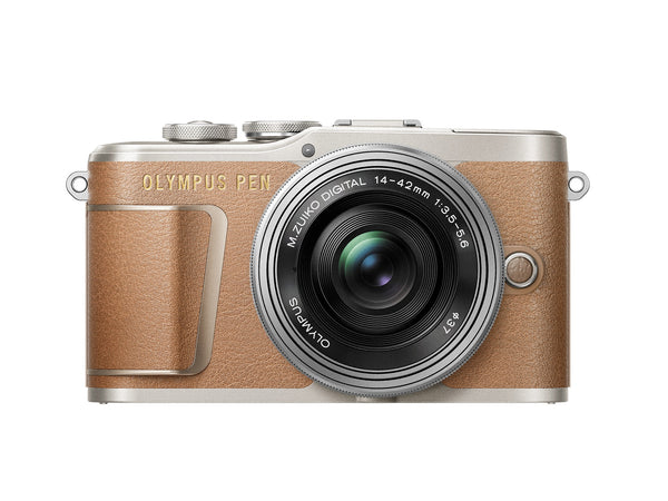 Olympus PEN E-PL9 Mirrorless Camera with 14-42mm - Honey Brown