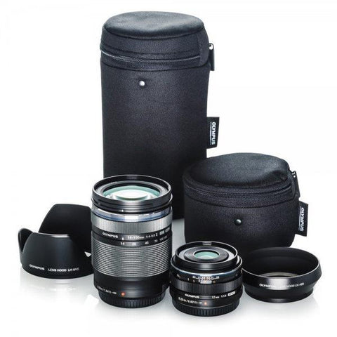 Olympus Travel Lens Kit with 17mm f1.8 & 14-150mm f4-5.6
