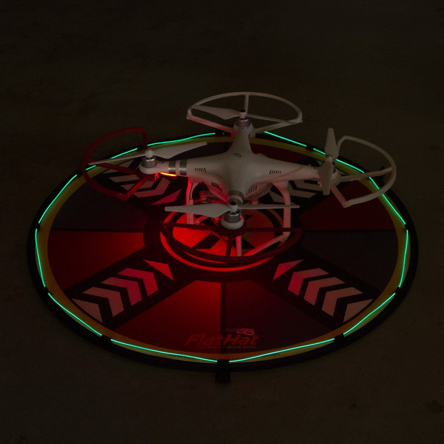 FlatHat Lighting Kit for Collapsible Drone Pads - Ice Blue