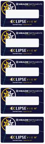 Meade ECLIPSEVIEW™ VIEWING CARDS (5 PK)