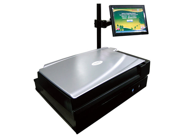 Plustek Kiosk Book Scanning Solution for Libraries (PLS-271-BBM21-C- E) - Print-Scan-Present - Plustek - Helix Camera