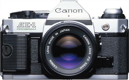 Refurbished Canon AE-1 Program 35mm SLR w/50mm f1.8 - Silver