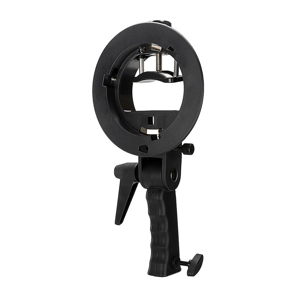 Fotodiox Pro Flash Bracket Holder with Handle for Speedlight Flash Guns and Bowen Mount Strobes