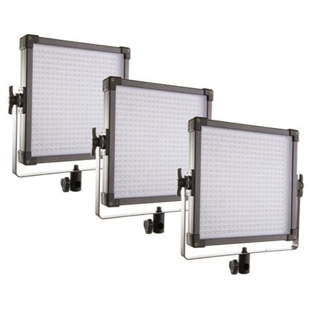 F&V K4000S Bi-Color LED Studio Panel | 3-Light Kit (Anton Bauer) 109041010233 - Lighting-Studio - F&V Lighting USA - Helix Camera