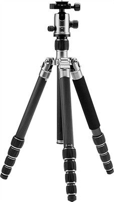 MeFoto GlobeTrotter Aluminum Travel Tripod Kit - Titanium - Photo-Video - MeFoto - Helix Camera