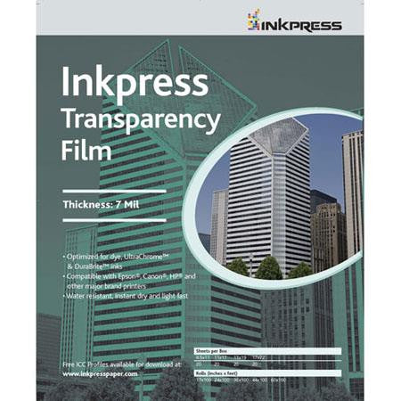 Inkpress 11x17 Transparency Film, 7mil 50 Sheet Pack