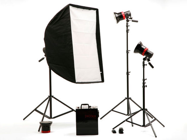 "Speedotron 2403CX LV - 3 Light Flash System w/ 202VFC Light Units & 7"" reflectors - No Case - Lighting-Studio - Speedotron - Helix Camera"