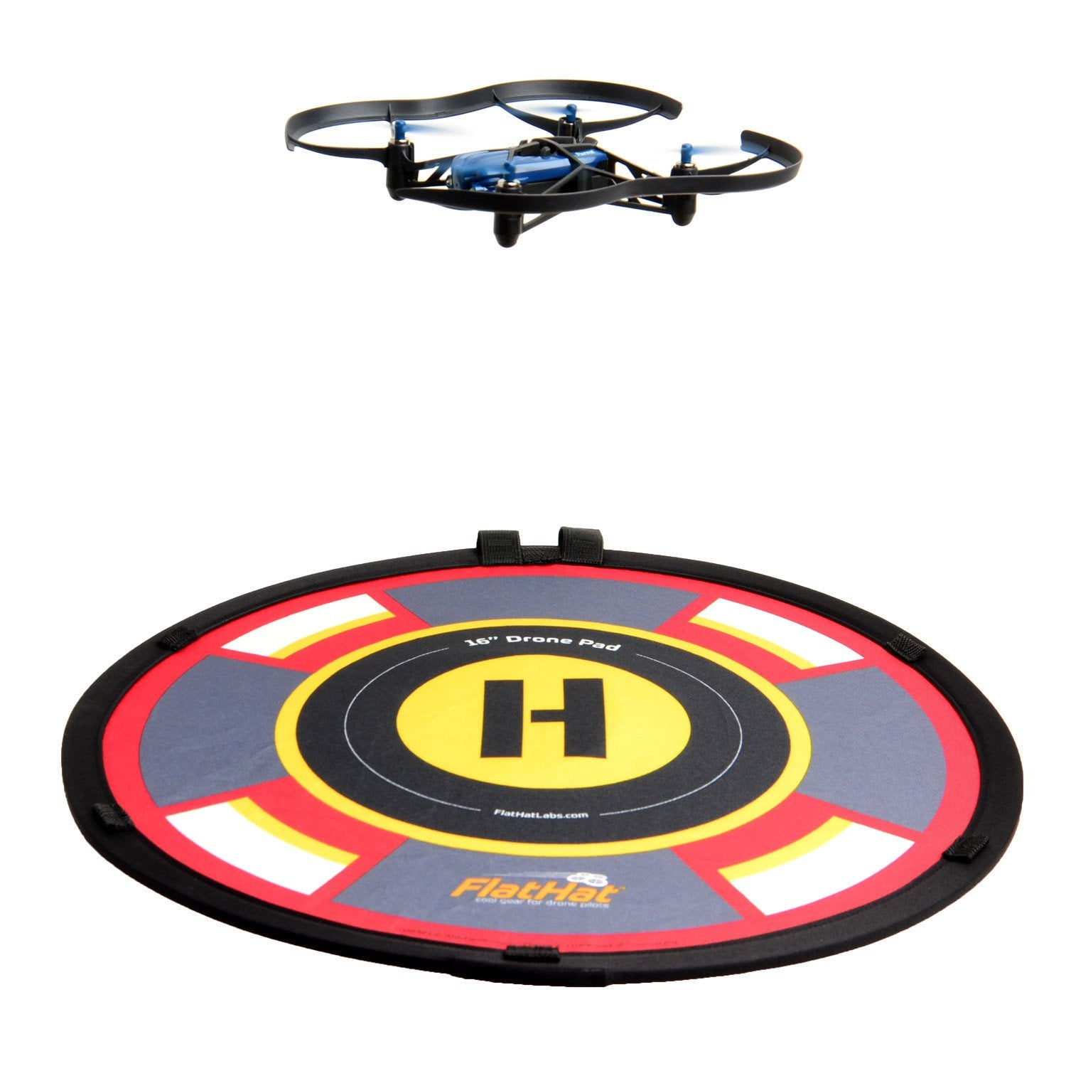 "FlatHat 16"" (40cm) Collapsible Drone Pad - Red Gold"