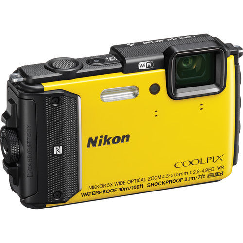 NIKON COOLPIX AW130 (YELLOW) - Photo-Video - Nikon - Helix Camera