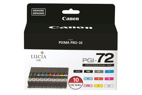 Canon Lucia PGI-72 10 Color Pack