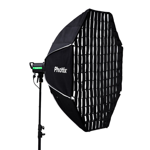 "Phottix Solas Octagon Softbox with Grid 48""/122cm - Lighting-Studio - Phottix - Helix Camera"