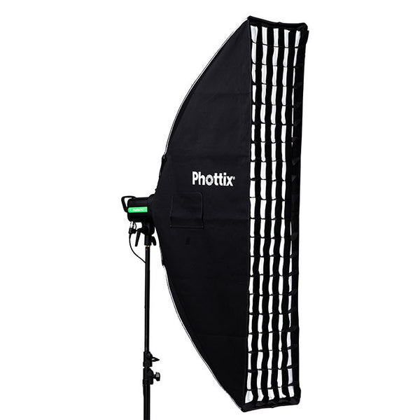 "Phottix Solas Strip Softbox with Grid 14""x55"" - Lighting-Studio - Phottix - Helix Camera"