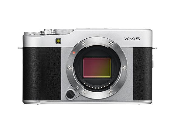 Fujifilm X-A5 Mirrorless Camera & XC 15-45mm Lens - Silver