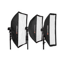 "Norman STSB1036 10""x36"" rectangular ""Pop-Up"" softbox w/ inner and outer diffusion panels"