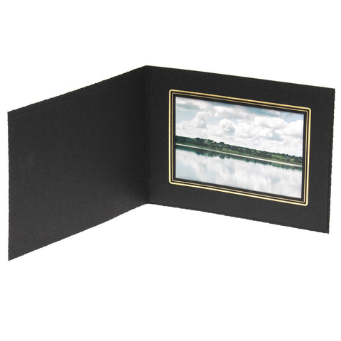 TAP Photo Folder Buckeye Black/Gold 6x4 (10 Pack) Horizontal TABF6410- New - Photo-Video - TAP - Helix Camera