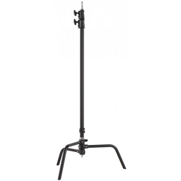 "Studio Assets 40"" Double Riser C-Stand with Grip Head and Arm (Black)"