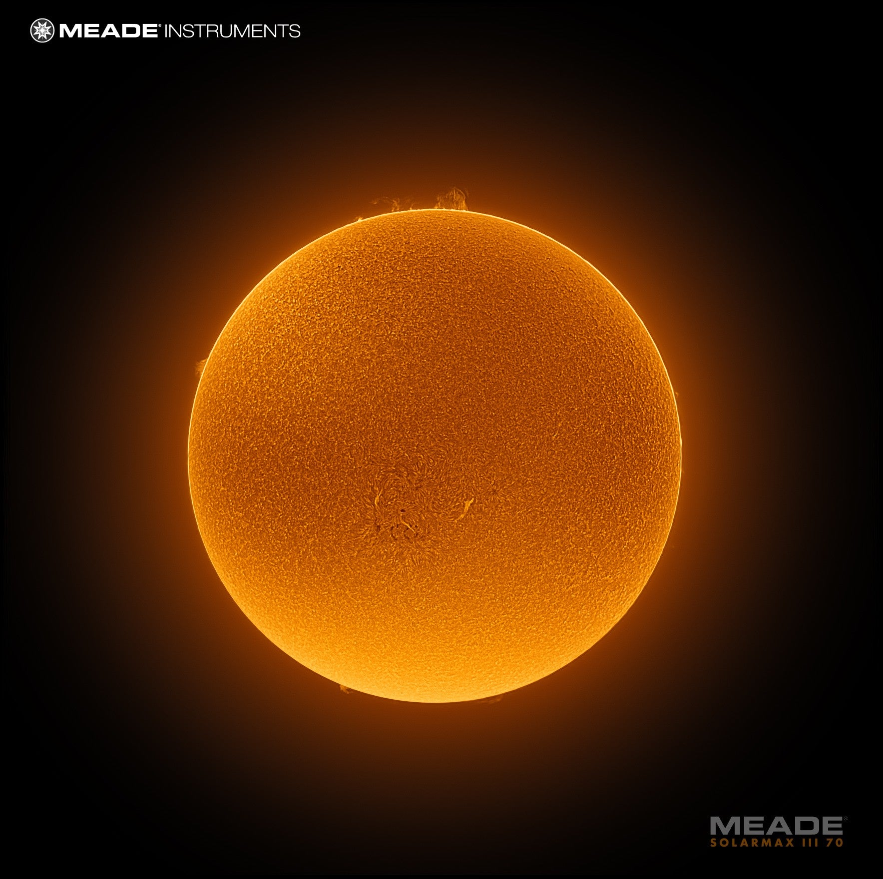 Meade SolarMax III 70mm solar telescope with RichView system and 15mm blocking filter