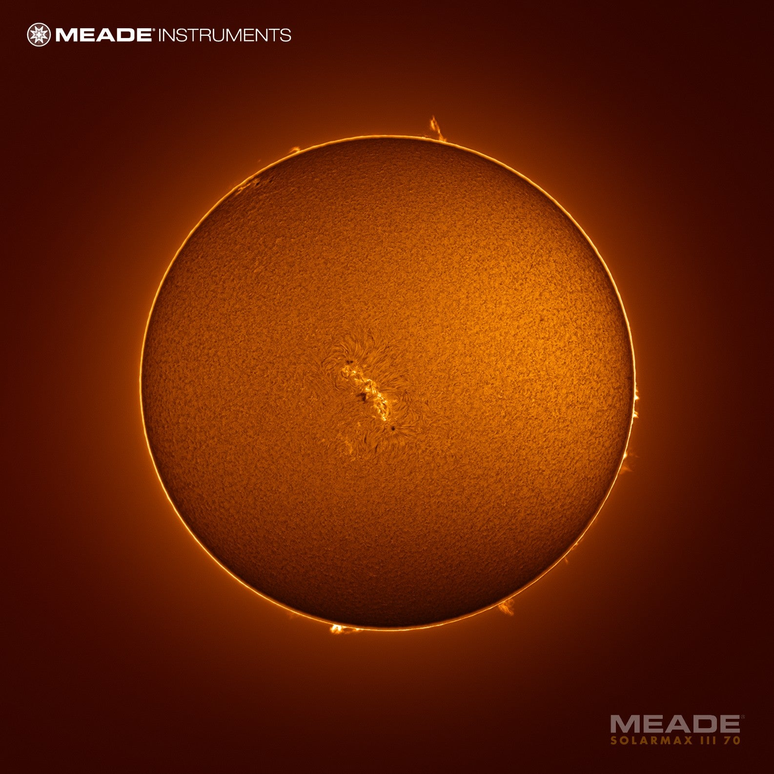 Meade SolarMax III 70MM Solar Telescope with RichView System and 10MM Blocking Filter