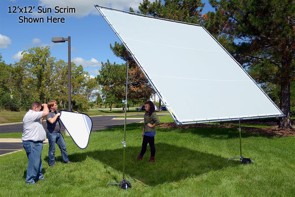 Fotodiox Pro Studio Solutions Giant Sun Scrim - Collapsible Frame Diffusion Kit with Carry Bag