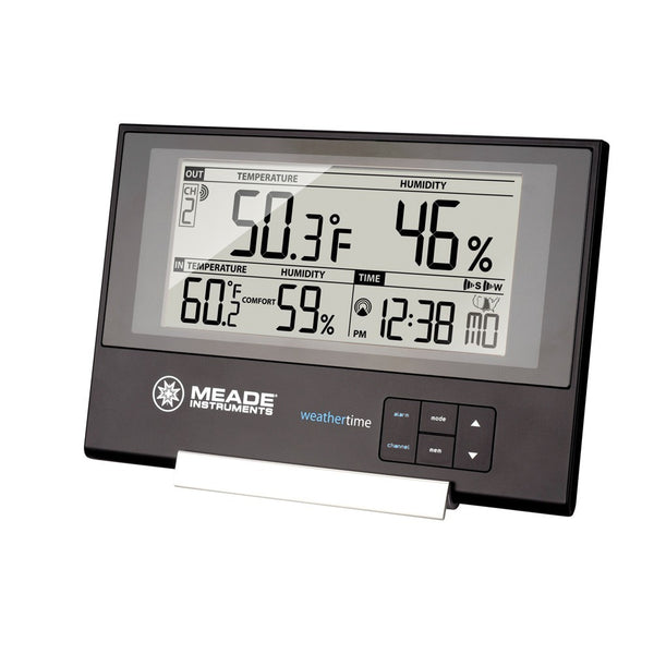 Meade TE256W Slim Line Personal Weather Station with Atomic Clock - Weather Stations - Meade - Helix Camera