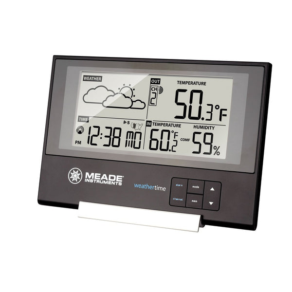 Meade TE346W Slim Line Personal Weather Station with Atomic Clock - Weather Stations - Meade - Helix Camera