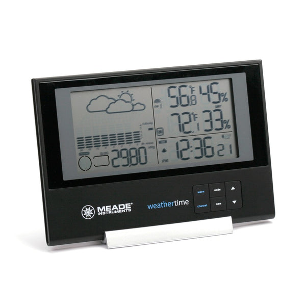 Meade TE636W Slim Line Personal Weather Station with Atomic Clock - Weather Stations - Meade - Helix Camera