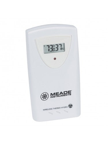 Meade Wireless remote temperature & humidity sensor with LCD Display TS33C-M - Telescopes - Meade - Helix Camera