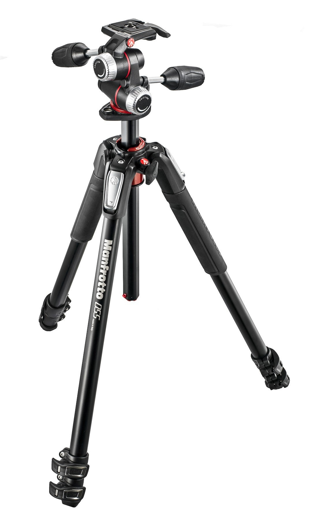 Manfrotto 055 Series Aluminum 3 Section Tripod with 3-Way Head - Photo-Video - Manfrotto - Helix Camera