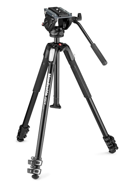 Manfrotto MVH500AH Fluid Video Head with MT190X3 tripod