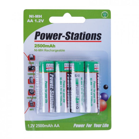 Volta Power-Stations Ni-MH 2500mAh AA Rechargeable Batteries (4-pack) - Lighting-Studio - Volta - Helix Camera
