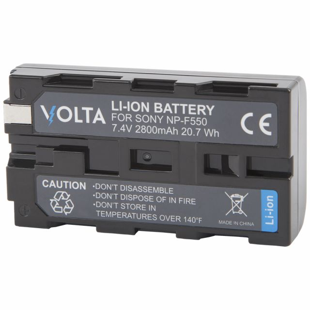 Volta NP-F550 Li-Ion Two Battery and Single Charger Kit