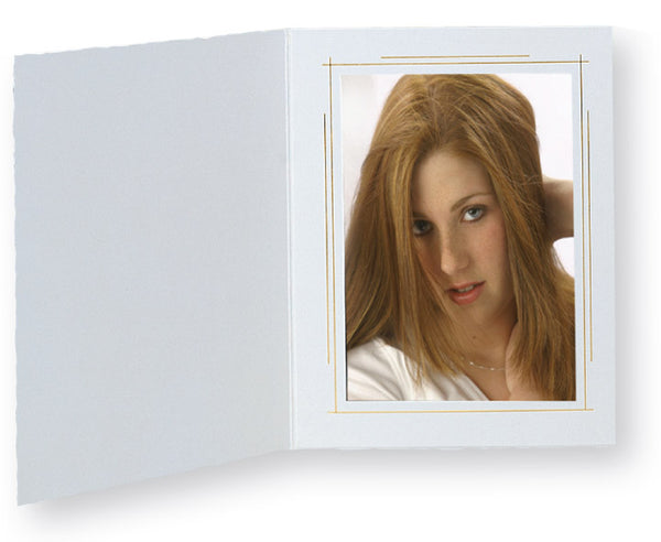 TAP Photo Folder Whitehouse White/Gold 4x6 (25 Pack) Vertical