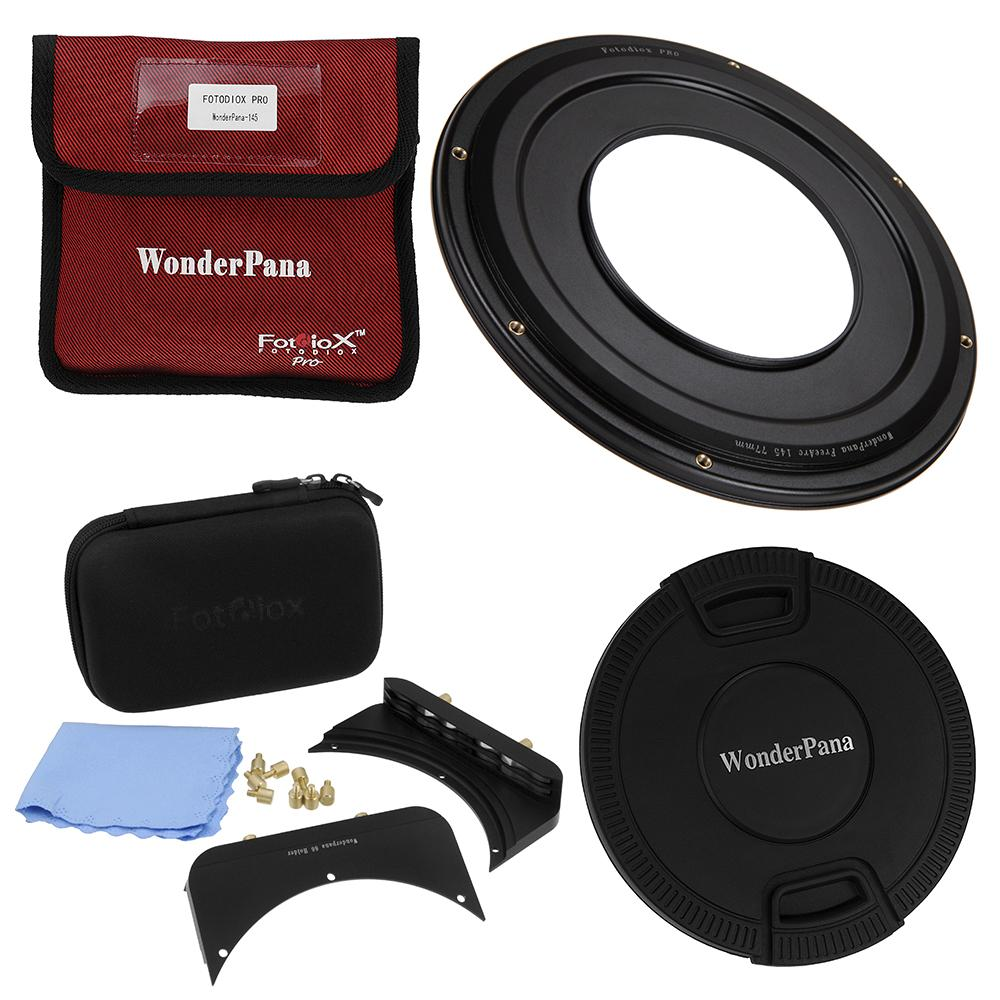 Fotodiox WonderPana 145 Step-Up Ring from Fotodiox Pro - Anodized Black Metal Step Up Ring for 77mm, 82mm or 95mm Lens Threads to WonderPana 145mm Round Filters