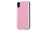 Pink Laser Holo Glass Battery Power Phone Case