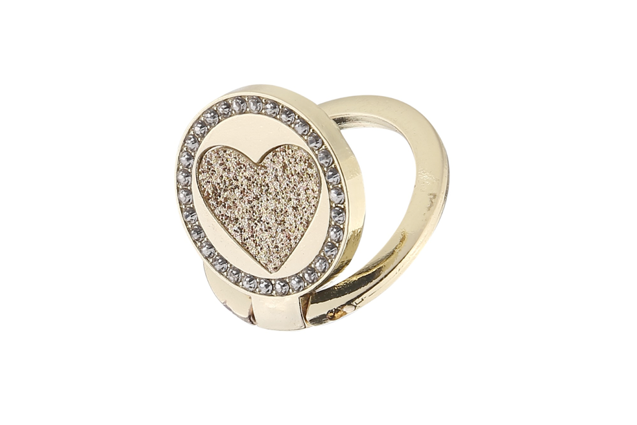 Gold Circle Heart Ring Holder