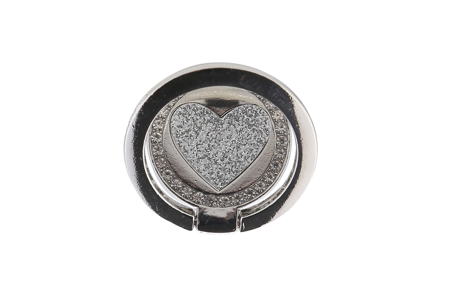 Silver Circle Heart Ring Holder