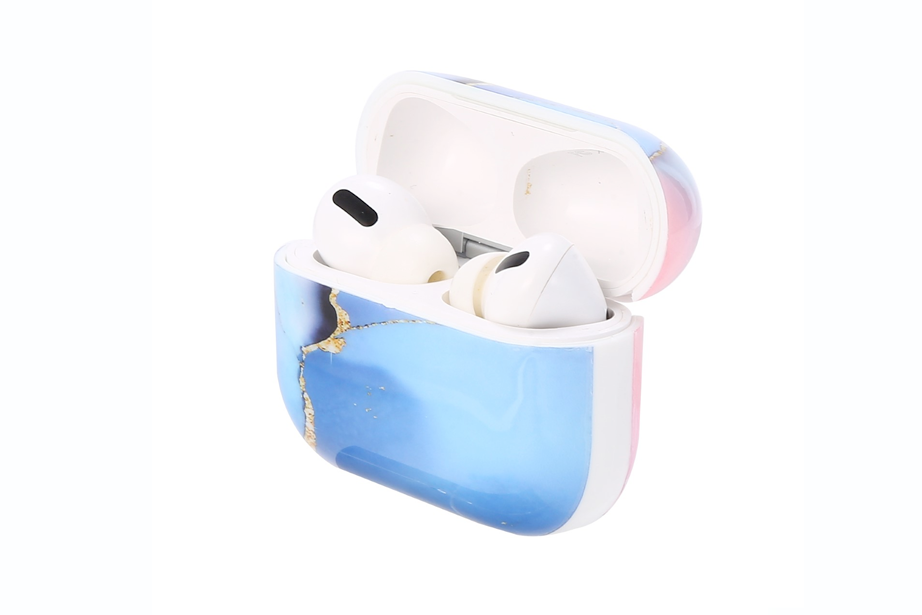 Pink & Blue Ombre Marble AirPod Holder